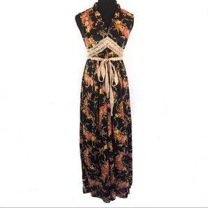 Beautiful vintage 70's boho maxi dress